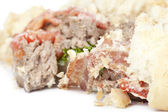 Crushed hamburger closeup — Stock Photo