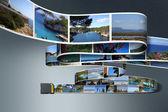 Vacation photos an SD card — Stock Photo