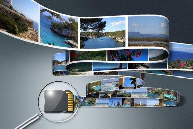 Vacation photos an SD card