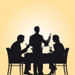 Restaurant_waiter — Stock Vector