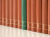 A row of books — Stock Photo