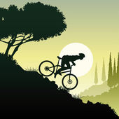 Downhill — Stock Vector