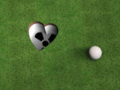 Golf Heart from above — Stock Photo