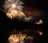 Feuerwerk beim Stift Melk — Stock Photo