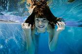 Funny underwater view — Stock Photo