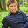 Young smiling man — Stock Photo