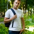 Stock Photo: Student in park