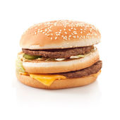Burger isolated on white background — 图库照片