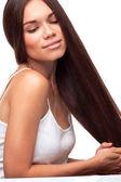 Beautiful pretty girl with long hair — Stock Photo