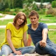 Young pregnant woman with young man — Stock Photo