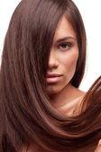 Beautiful girl with long hair — Stock Photo