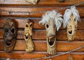 Masks at market — Stock Photo