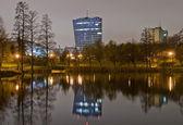 Night lake scenery — Stock Photo