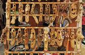 Mercado de máscaras de madeira — Foto Stock