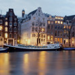Panoramic view from Amsterdam in Netherlands at twilight — Stock Photo #11200288