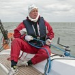 Sailor at work during sailing race in Netherlands — Stock Photo #11243399