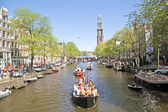 Queensday in Amsterdam the Netherlands on 30th april 2012. — Stock Photo