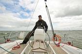Plachtění na ijsselmeer v nizozemsku — Stock fotografie