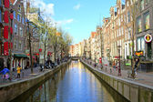 Red light district in Amsterdam in the Netherlands — Stock Photo
