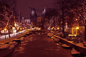 Christmastime in Amsterdam the Netherlands — Stock Photo