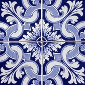 Tile pattern in blue and white — Stock Photo