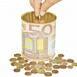 Euro savings — Stockfoto