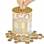 economia do euro — Foto Stock