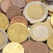 Stock Photo: Euro coins, cbe used as background