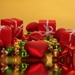 Christmas gifts and christmas balls — Stock Photo #11466362