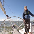 Sailing on the IJsselmeer in the Netherlands — Stockfoto
