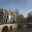 Panoramic view at Amsterdam citycenter in Netherlands — Stock Photo #11473295