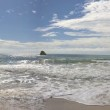 Постер, плакат: Panoramic view at the famous beach at Praia da Rocha in the Algarve in Portugal