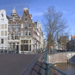 Panoramic view at Amsterdam citycenter in the Netherlands — Stock Photo #11486913