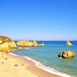 Rocky southcoast near Lagos in Portugal — Stock Photo