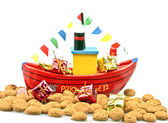 Steamboat from santa claus — Stock Photo