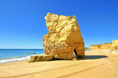 Pedras naturais na praia da rocha portugal — Fotografia Stock