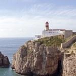 sagres,从葡萄牙在欧洲的最南点在灯塔 — 图库照片