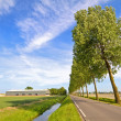 Typical dutch landscape in the Netherlands — Stock Photo