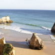 Rocky southcoast  at Alvor  in Portugal — Stock Photo