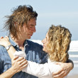 Couple in love at the beach — Stock Photo #11496699