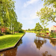 Stock Photo: Typical dutch landscape in the Netherlands