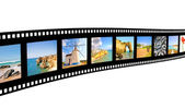 Film frame with pictures from Portugal — Stock Photo