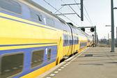 Odjezd vlaku — Stock fotografie