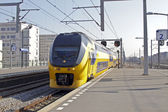 Train arriving at Bijlmerstation in Amsterdam the Netherlands — Stock Photo