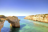 Beautiful southcoast in the Algarve in Portugal — Stock Photo