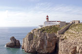 Lighthouse at Sagres, the most south point from Europe in Portugal — Stock Photo