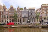 在阿姆斯特丹荷兰-hdr 晚中世纪房屋 — 图库照片