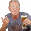 Man drinking a beer — Stock Photo