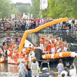 Floats participate in Canal Parade on Gay Pride weekend — Stock Photo