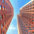 High red buildings — Stock Photo